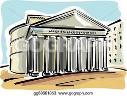Rome clipart pantheon