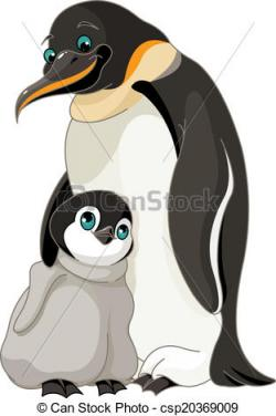 Emperor Penguin clipart penguin family