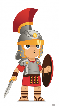 Roman Warriors clipart cartoon