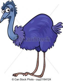 Ostrich clipart emu