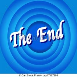 End clipart colorful