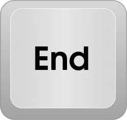 End clipart keyboard key