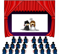 End clipart theater art
