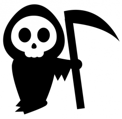 Deadth clipart black and white