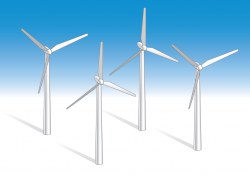Wind Turbine clipart windmill