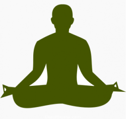 Meditation clipart stay positive