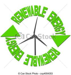 Wind Turbine clipart green energy
