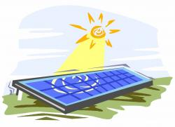 Panels clipart solar power plant
