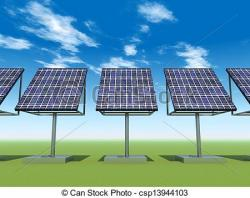 Energy clipart solar power plant
