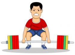 Men clipart lifting weight