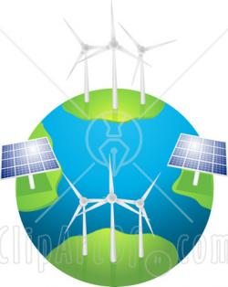 Energy clipart wind and solar