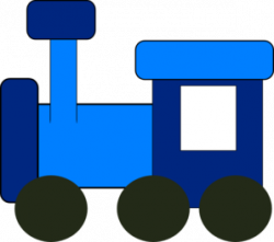 Engine clipart blue train