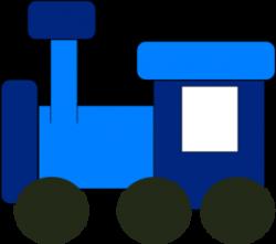 Engine clipart blue train