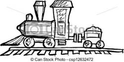 Locomotive clipart vintage train