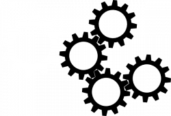 Gears clipart black and white
