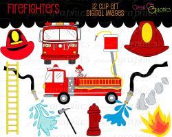 Fire Truck clipart firefighter gear