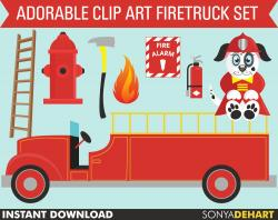 Dalmation clipart firefighter hose
