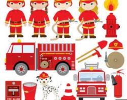 Engine clipart fireman