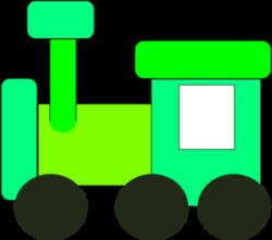 Engine clipart green train