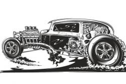 Engine clipart hot rod