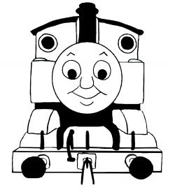 Thomas The Tank Engine clipart black and white