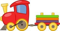 Locomotive clipart toy train