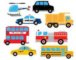 Fire Truck clipart taxi car