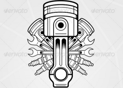 Engine clipart vector free download