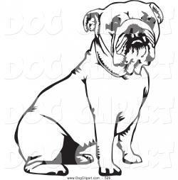Sketch clipart british bulldog