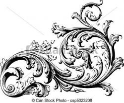 Curve clipart filigree scroll