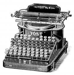 Typewriter clipart old typewriter