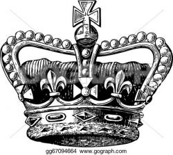Engraving clipart crown