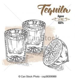 Engraving clipart drink glass
