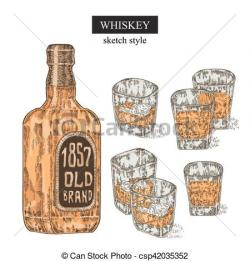 Engraving clipart drinking glass