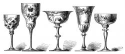 Engraving clipart goblet