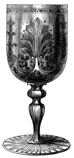 Goblet clipart vintage french