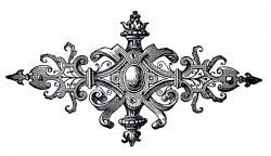 Victorian clipart vintage ornament
