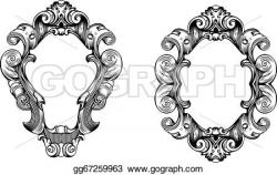 Engraving clipart ornate
