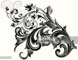 Engraving clipart scrollwork