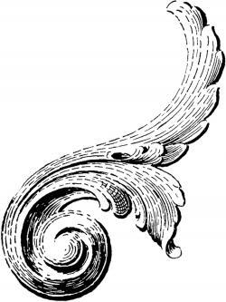 Classics clipart victorian scroll