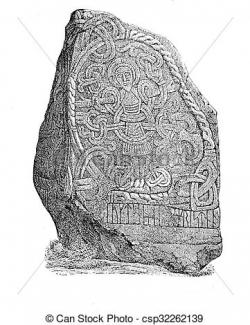 Engraving clipart stone