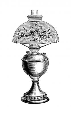 Lamps clipart vintage lamp