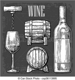 Engraving clipart wine glass