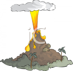 Lava clipart volcano eruption
