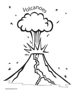 Eruption clipart