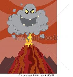Eruption clipart illustration
