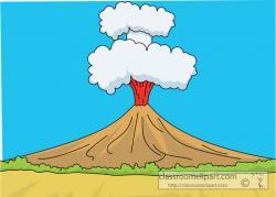 Eruption clipart landform