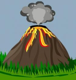 Eruption clipart magma