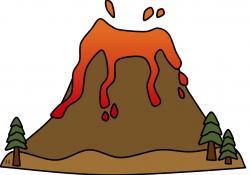 Volcano clipart volcanic eruption