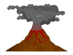 Eruption clipart volcano island